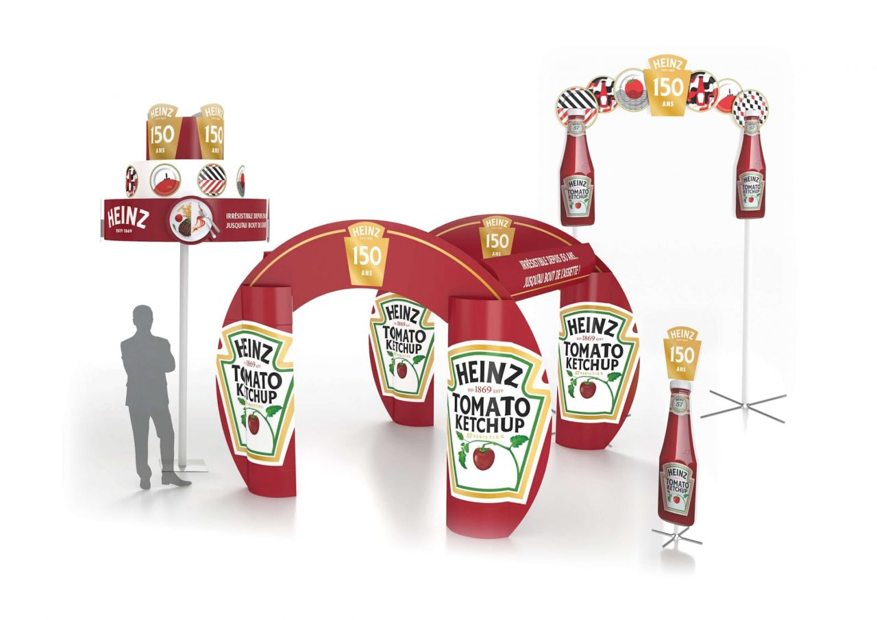pos display heinz brand